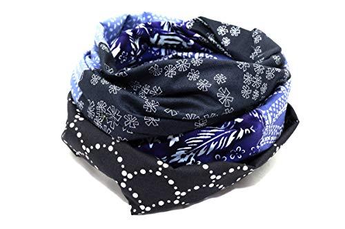 Lieblingsmanufaktur Schal Damen schwarz/bunt. Farbenfrohes Tuch aus reiner Baumwolle, das Deine Welt bunter macht. Ein Loopschal aus Erfurt. Schwarz