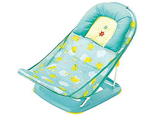 MASTELA Baby Infant Bathing SEAT Traning SEAT Baby Nursing Compact Delux Baby Bather with Removable Head Support Cushion Infant Bath Chair Todler The Bubbly Baby Bath (0 Month+) (Green)