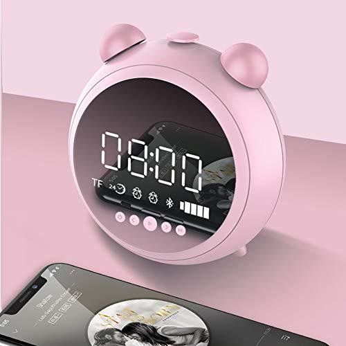 Solar Reloj Despertador con Altavoz Bluetooth