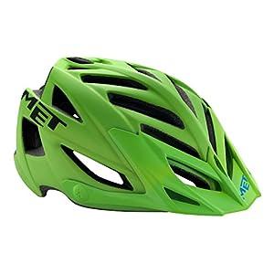 Met-Rx MET 3HELM91UNVN_Green/Black_54-61 cm - Casco da ciclismo unisex, taglia unica, colore: Multicolore Verde/nero