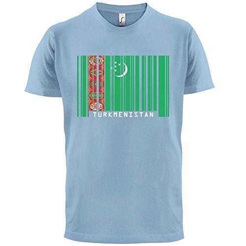 Turkmenistan / Türkmenistan Barcode Flagge - Herren T-Shirt - 13 Farben Himmelblau