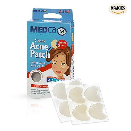 Anti-Akne Pickel Patches absorbierende Abdeckungen - Wangengroße Akne Spot Behandlung Hydrokolloid Pflaster Gesicht & Haut Spot Patch verbirgt Akne, reduziert Pickel und Mitesser
