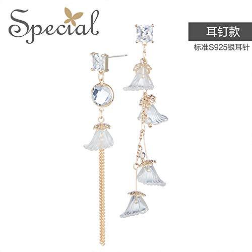 YOYOYAYA S 925 Tremella Pin Ohrringe Weiblich Zubehör Asymmetrie Temperament Wind Bell Moonlight Dinner Party