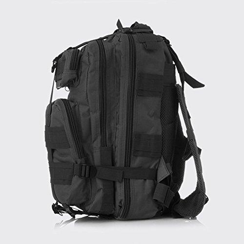 Pizz Annu-Outdoor Tactical Rucksack Sport Camouflage Tasche für Camping Reisen Wandern Trekking schwarz