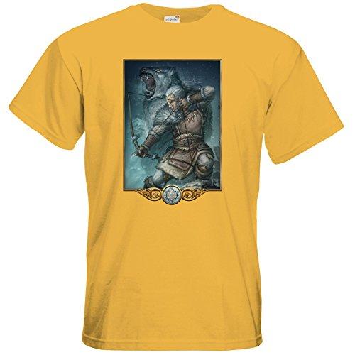 getshirts - Das Schwarze Auge - T-Shirt - Götter - Firun Gold
