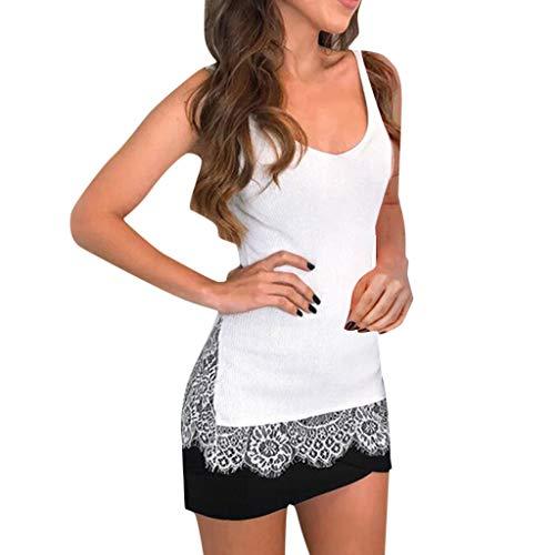 CAOQAO Damen'S T-Shirt Summer Damen Off Schulter Atmungsaktives Laufshirt Casual Schulterfrei Spitze Tops Kurzarm T-Shirts Verlieren Tank Tops
