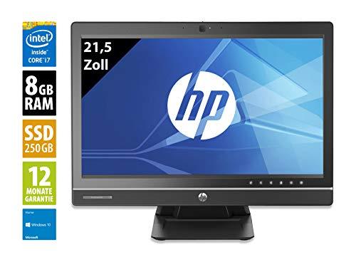 HP Pro One 600 G1   All-In-One PC   21,5 Zoll (1920x1080)   Intel Core i7-4770S @ 3,1 GHz   8GB DDR3 RAM   250GB SSD   Windows 10 Home (Zertifiziert und Generalüberholt)