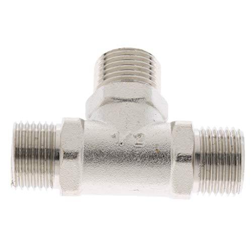 FLAMEER 1/2 Zoll Messing Schnellkupplung Rohrverbinder Verbinder 3 Wege