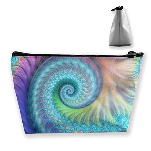 Reise-Make-up-Tasche - Fraktal Türkis Octopus Pouch Purse Handtasche Organizer mit Reißverschluss für Frauen & Männer -