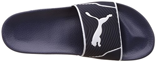 Puma Leadcat, Pantofole Per Adulti Unisex, (nero-bianco 01), 35,5 Eu (3 Adulto Britannico) Peacoat-white