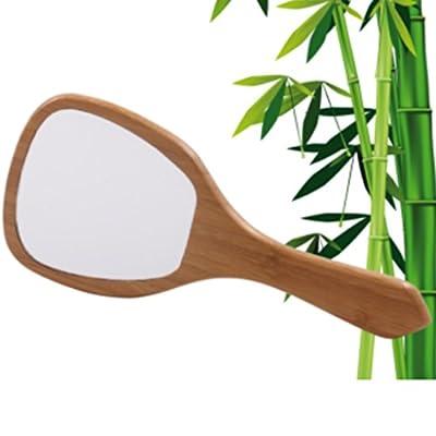 Bambus Spiegel Hand-/ Reisespiegel aus hochwertigem Bambusholz