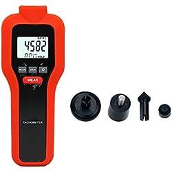 Tacómetro Digital, Mengshen 2 en 1 Medidor de velocidad de contacto sin contacto y contacto - M522