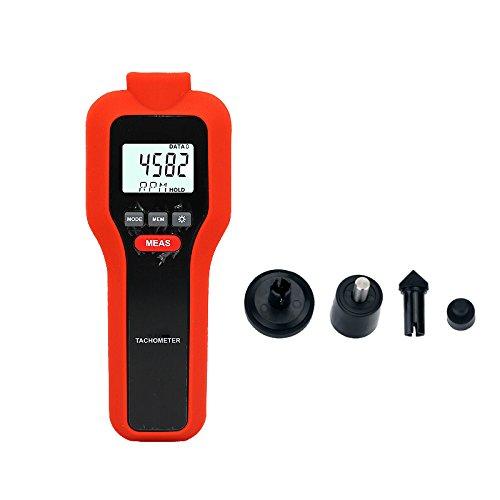 Mengshen Digital Tachometer, 2-in-1 Berührungslos & Kontakt Drehzahlmessung Drehzahlmesser, M522