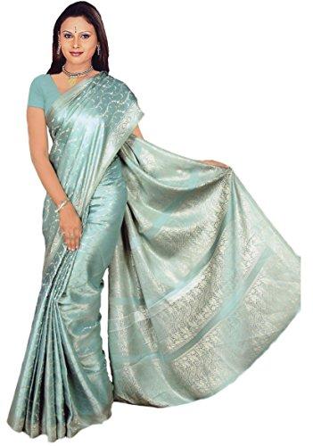 Trendofindia Indian Bollywood Sari Azul Celeste CA118