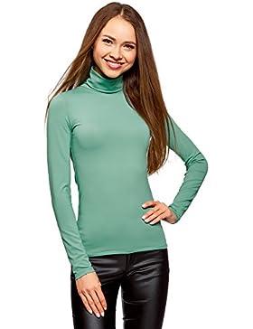 oodji Ultra Mujer Suéter de Cuello Alto Básico