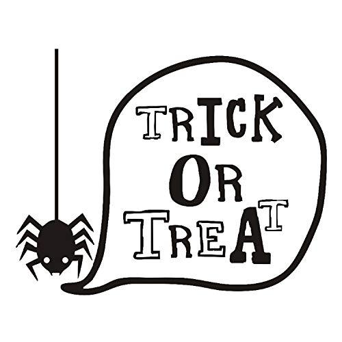 qazwsx Süßes Oder Saures Schöne Spinne Halloween Wandaufkleber Für Kinderzimmer Wanddekor Dekoriert Art Decal Home Dekorationen Fertige Größe 58X73Cm (Kuchen Halloween Dekoriert)