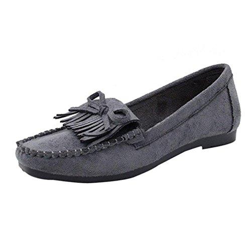 Zapatos de mujer de fondo suave, Covermason Zapatillas slip-on sin cordones para mujeres Frige Round Head