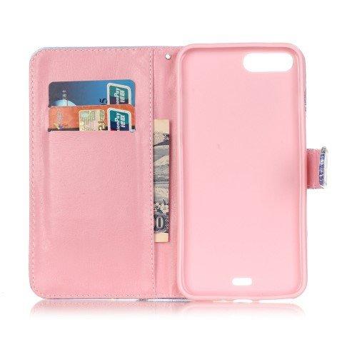 jbTec® Flip Case Handy-Hülle zu Apple iPhone 8 Plus / iPhone 7 Plus - BOOK MOTIV - Handy-Tasche, Schutz-Hülle, Cover, Handyhülle, Ständer, Bookstyle, Booklet, Motiv / Muster:Traumfänger F01 Baum & Haus B88