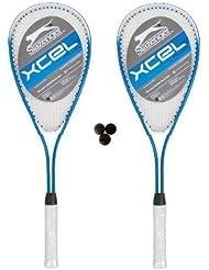 Slazenger X-Cel Raquetas Squash + 3 Pelotas De Squash 2x
