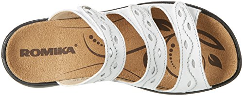 ROMIKA Ibiza 66, Sandales Bout Ouvert Femme Blanc (Weiss)