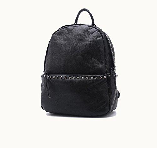 Z&N Backpack Die neuen Schulterbeutel Niet Handtaschen multifunktionale Handtaschen diagonal Paket atmungsaktiv strapazierfähig leicht Wochenendarbeit über Nacht Reisetaschen black