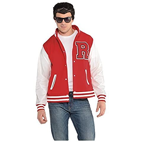 Cerf Costume Outfit - Adult 50s High School Letterman Jacket Fancy