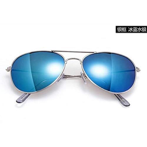 CYCY New Eltern-Kind-Kindersonnenbrille Kind UV-Schutzbrille Korea Wind Jungen Mädchen Baby-Sonnenbrille 3-12 Jahre Mercury Brillenetui @ Blue Quecksilber Brillenetui