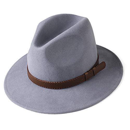 Fedora Hut für Frauen Männer Australische Wolle Elegante Filz Hut mit breiter Krempe Vintage Jazz Couple Cap