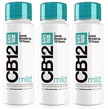 CB12 250ML 3 PACK MILD MINT Safe Breath Oral Care...