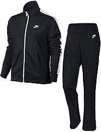 Nike W NSW TRK SUIT PK OH Chándal, Mujer, Negro (BLACK/WHITE/BLACK/WHITE), XS