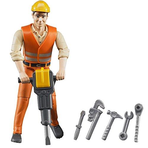 Bruder 60020 - Bauarbeiter mit Zubehör