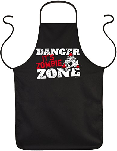 ze für Halloween - Danger it`s Zombie Zone - Gruseliger Kittel ()