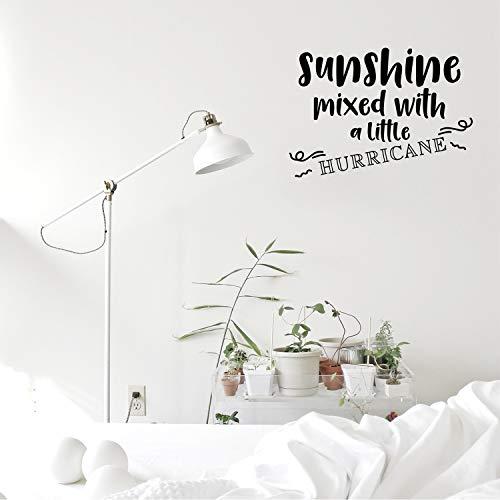 Wandtattoo aus Vinyl, Motiv Sonnenschein mit Einem kleinen Hurricane, 38 x 58 cm, modern, trendig, Positive Dekoration für Schlafzimmer, Wohnzimmer, Büro Motiv Hurricane