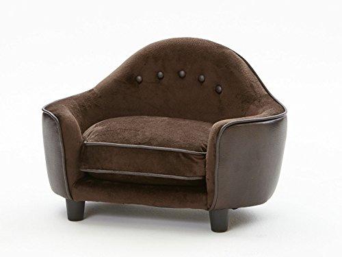 'Perro sofá cama para perros perro Sofá perro cesta perros y gatos cama de peluche Brownie I 67 x 43 x 30 cm. asiento: 52 x 32 x 7 cm. cojin 30 x 10 cm