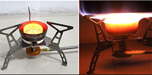 BrilliantDay Camping Gas Stove Portable Camping Stove Picnic Gas Burner Carrying Case Foldable Camping Stove for Outdoor…