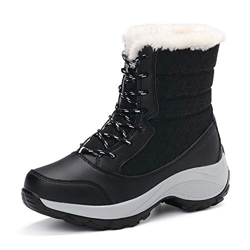 QZBAOSHU Winter Snow Boots for Women Waterproof Mid Calf Boots