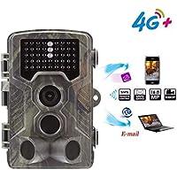 "Suntek 4G 3G Gprs Wildkamera Fotofalle GSM 16MP 1080P Full HD Jagdkamera 120 ° Weitwinkelobjektiv Vision Infrarote 30m 42 IR-LEDs IP65 Wasserdicht 2.0"" LCD Display 800LTE"