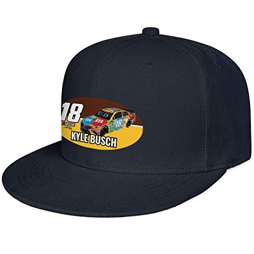 Klassische Unisex-Baseballmütze 18 Kyle Busch NASCAR Flag Plain Dyed Dad Hat Hip Hop 22793 -