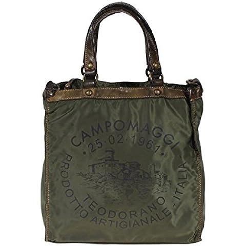 bolso del negocio de nylon Campomaggi C3795 Hombres VEVLTC Henkeltasche Castagno bolsa de trabajo con el sello de la bolsa de mensajero verde