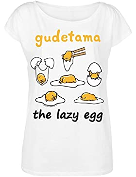 Gudetama The Lazy Egg Camiseta Mujer Blanco