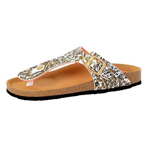 Sandalen Von Desigual Bio Save The Queen Dorado Multicolor