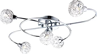 Globe Sienna 5xG9 Plafonnier Chrome Ceiling Lamp