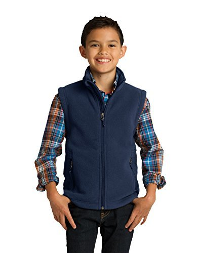 port-authority-boys-port-authority-youth-value-fleece-vest-y219-s-true-navy-by-port-authority