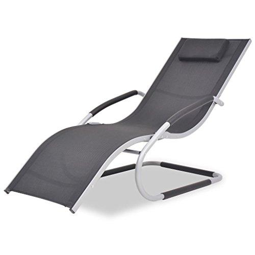Tidyard- lettino prendisole in alluminio e textilene, sedie a sdraio da giardino 62x152x88 cm