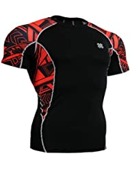 Fixgear Homme Femme Running Compression Shirt Baselayer Tight Black