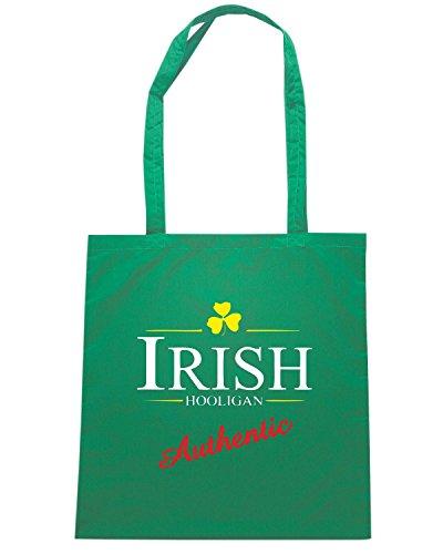 T-Shirtshock - Borsa Shopping OLDENG00838 irish hooligan (3) Verde