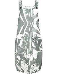 635d9c295ee Grizas - Greta Printed Linen Dungaree Dress