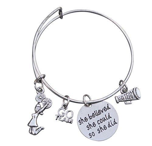 Infinity Collection Cheer Armband Mädchen Cheerleading Armband Verstellbar Chearleader Armreif Armband Cheer Jewelry-Perfekte Geschenk für Jemals & Cheer Trainer