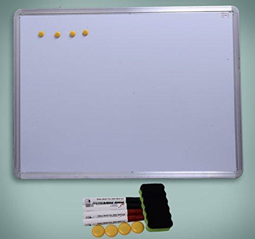 Pizarra Magnetica Blanca de 120x90cm con 10 Imanes + 1 Borrador + 4 Rotuladores