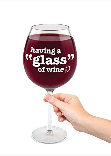 BigMouth Inc gigantische 'U een glas wijn' Wijnglas (biedt ruimte voor een VOLLEDIGE fles)